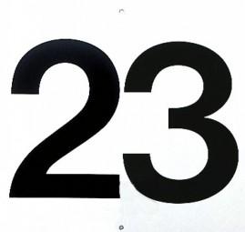 Platznummern 2-stellig